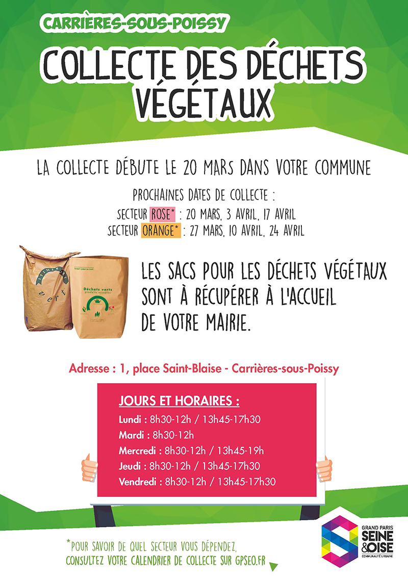 FLYER DECHETS VEGETAUX CARRIERES SOUS POISSY Version finalisee Page 1